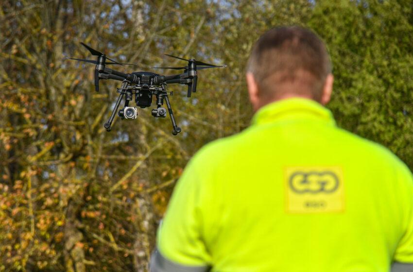 Elektros vagystės nustatomos ir dronų pagalba