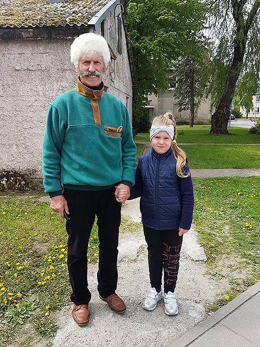 Martynas Duotas atėjo su anūke Kotryna, norėjo jai parodyti gyvai LR Prezidentą su pirmąja šalies ponia.