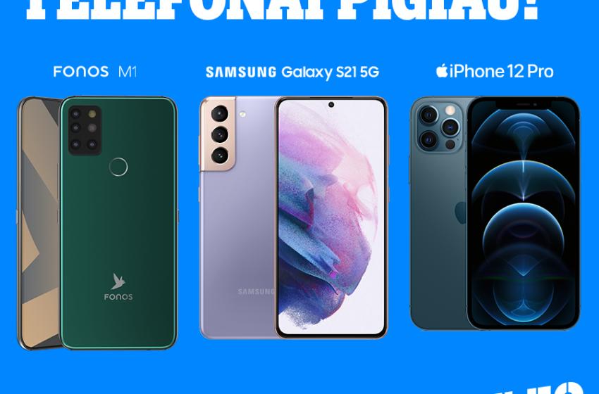 """Išskirtiniai """"Tele2"""" pasiūlymai """"Samsung Galaxy"""", """"iPhone 12"""" ir """"Fonos M1"""" telefonams"""