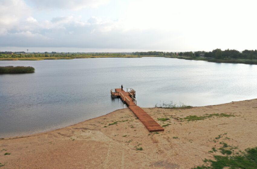 Dovilų karjere – naujas pontoninis lieptas