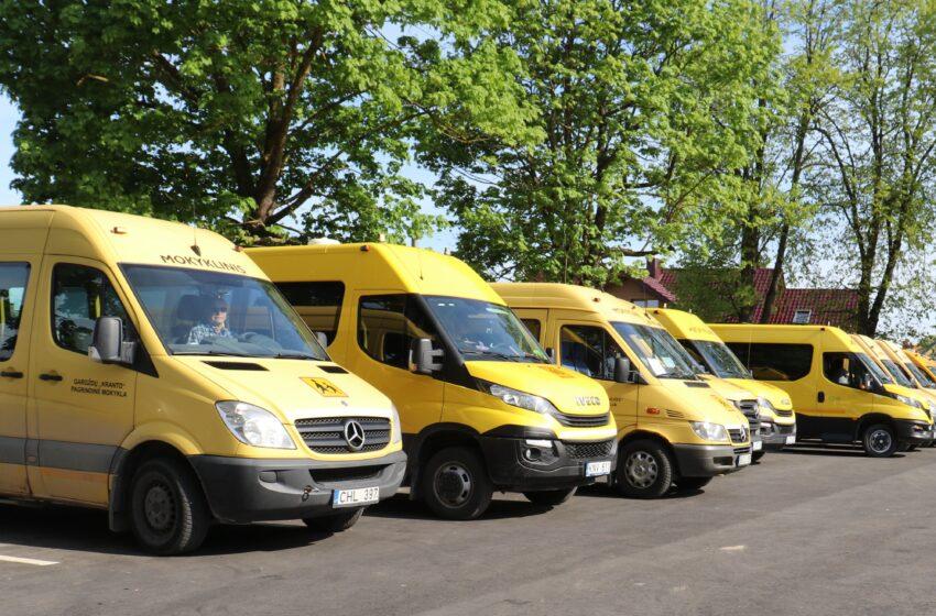 Geltonieji autobusiukai – saugiam rajono vaikų pavėžėjimui