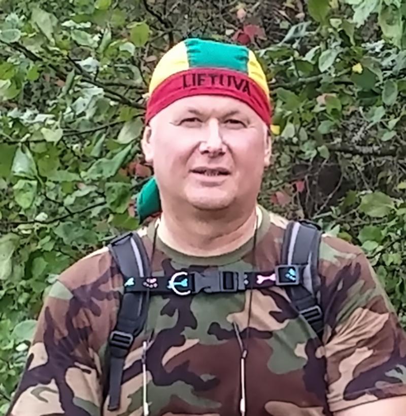 """Asociacijos """"Gargždų jungtinės pajėgos"""" vadovas V. Skuodas Ablingos tragedijos atminimui kviečia į pėsčiųjų žygį."""