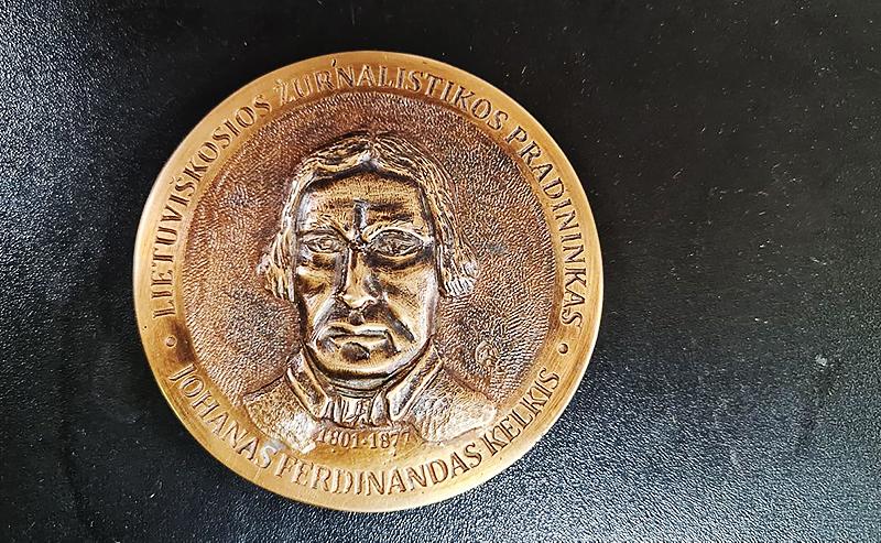 J. F. Kelkio medalis. Autorius – skulptorius Robertas Guoba.